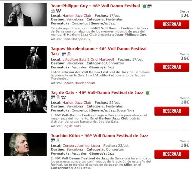 entradas festival jazz