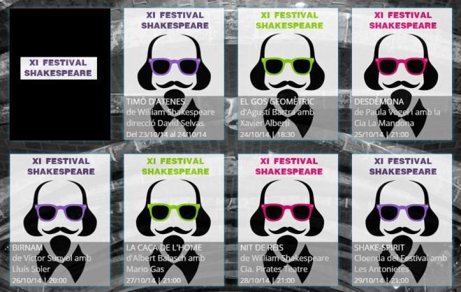 programacion festival shakespeare